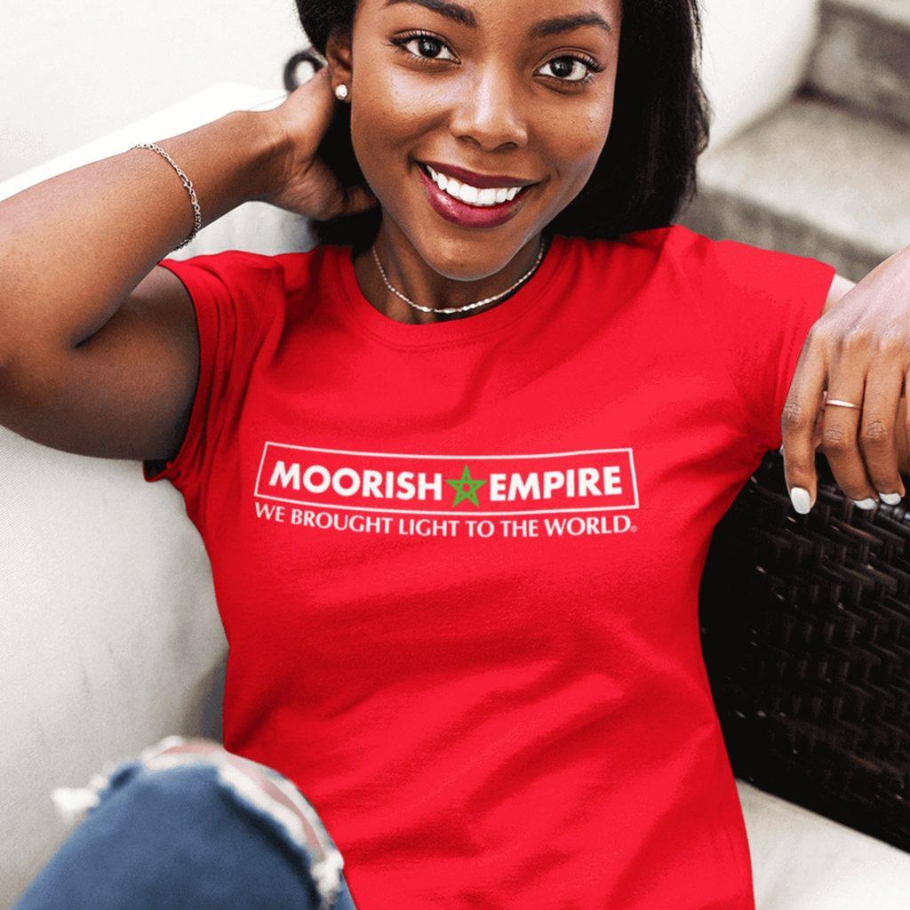 Moorish Empire Triblend Red Tee