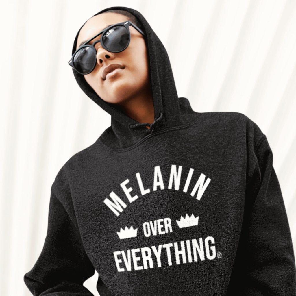 Melanin Over Everything Premium Pullover Hoodie